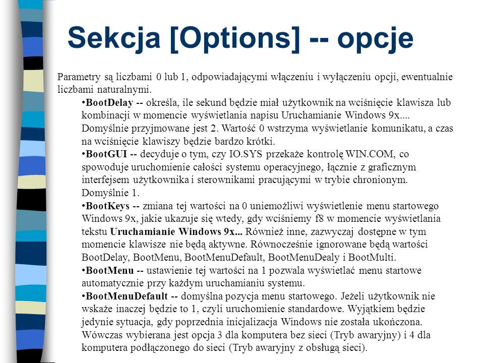Sekcja [Options] -- opcje